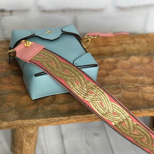 Персиковый сменный ремень для сумки