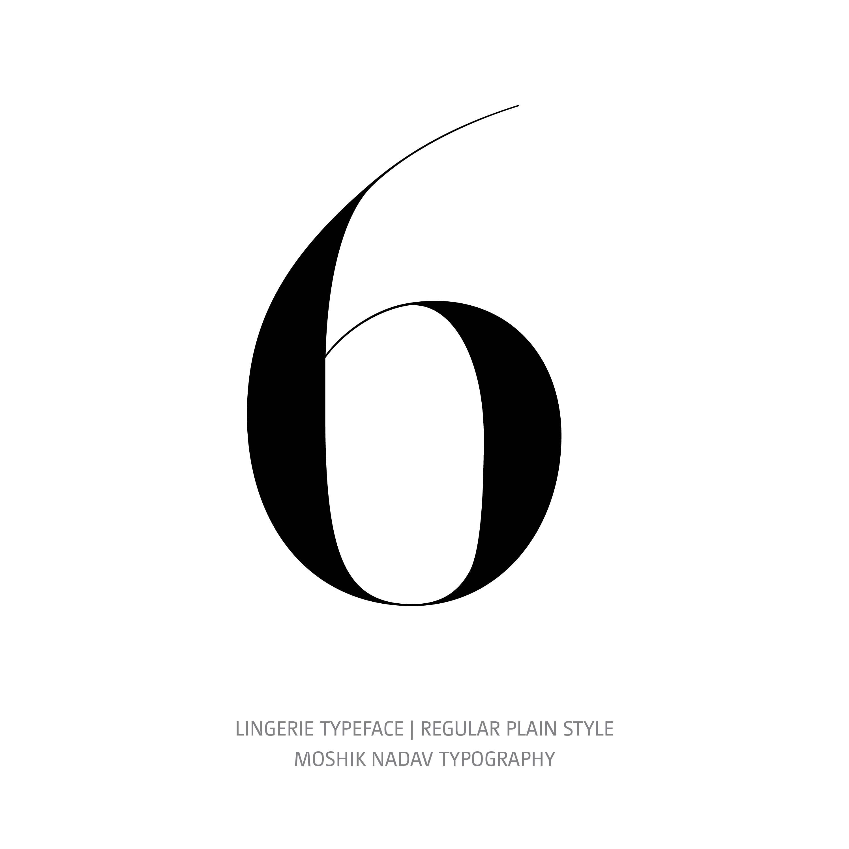 Lingerie Typeface Regular Plain 6
