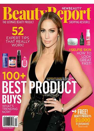 Beauty Report Magazine Cover with Jennifer Lopez - VENeffect Skin Care