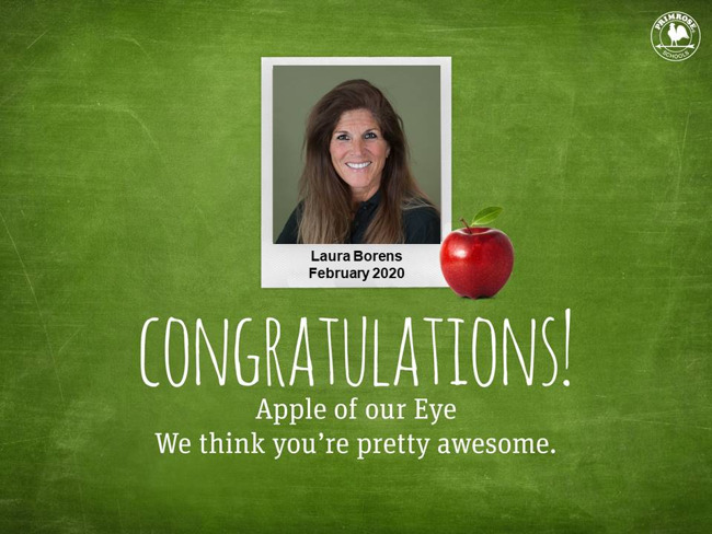February apple of our eye laura borens