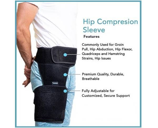 hip compression sleeve features