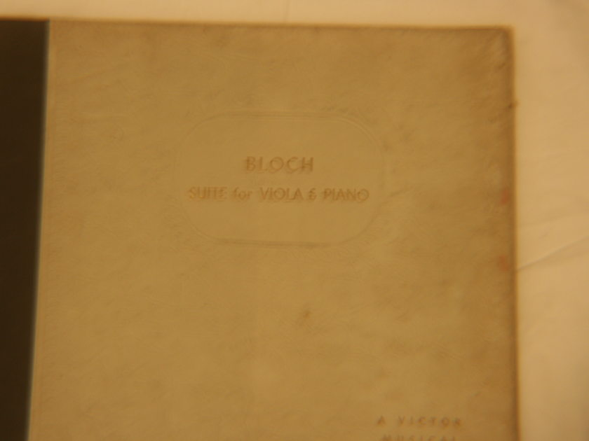 Ernest Bloch - Bloch: Suite for Viola & Piano Victor DM 575