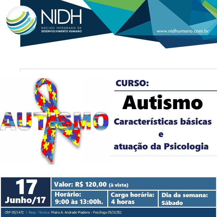 CURSO: Autismo – Características básicas e atuação da Psicologia