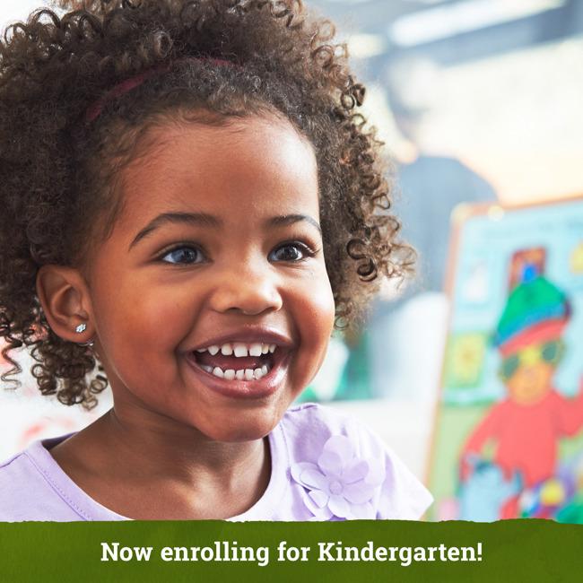 Now enrolling for Kindergarten