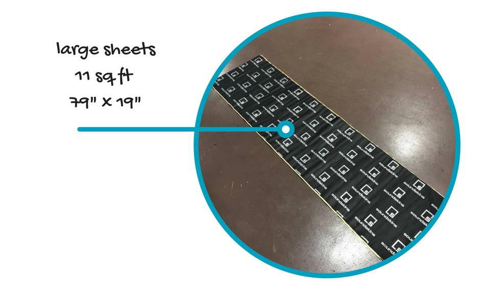 SoundSkins Pro Sheet Size