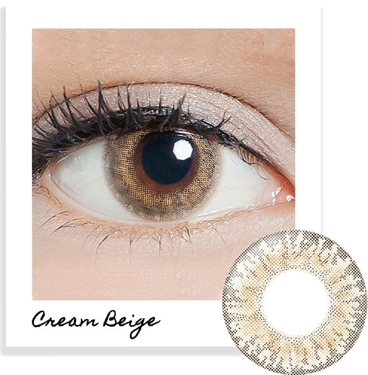 LILMOON Cream Beige Contact Lenses