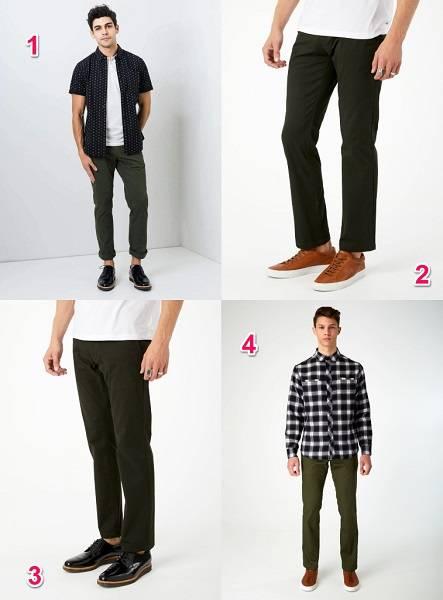 Olive chino pants