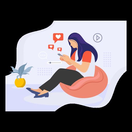 Girl chatting on mobile 2863691