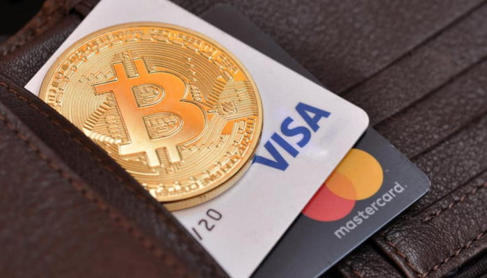 Deposit and withdrawal of cryptocurrency using VISA/MasterCard