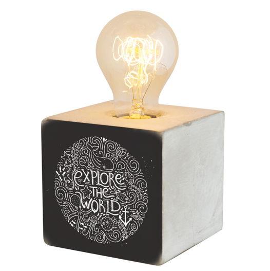 Бетонный светильник с диммером EXPLORE THE WORLD