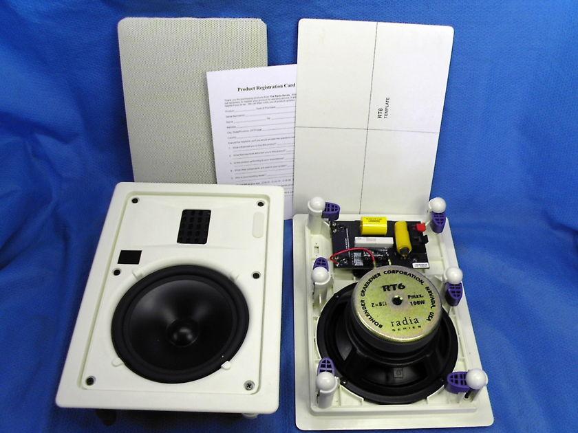 Bohlender Graebener  RT6 in wall Ribbon Speakers for  Stereo or Surround Sound