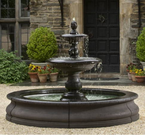 Outdoor Fountains with Pools, Large fountains with pools, tiered fountains with pools, large tiered fountains, Outdoor Fountains with Ponds, Pond fountains