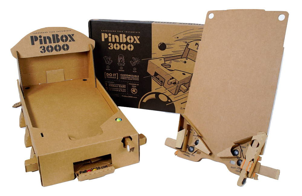 how to build a pinball flipper cardboard