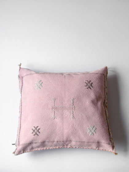 Подушка из шелка агавы Pink