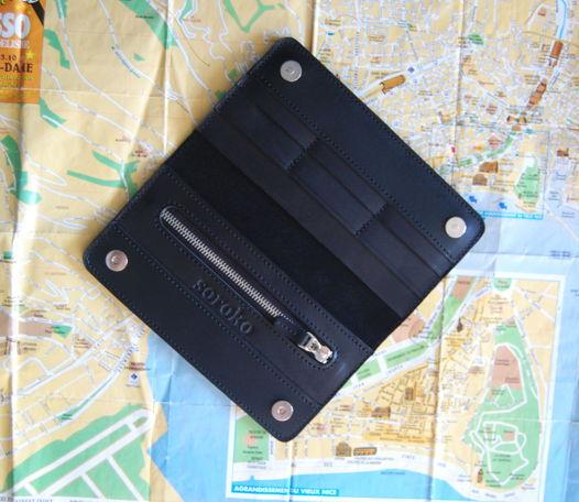 Кожаное черное  портмоне с монетницей Duo Black