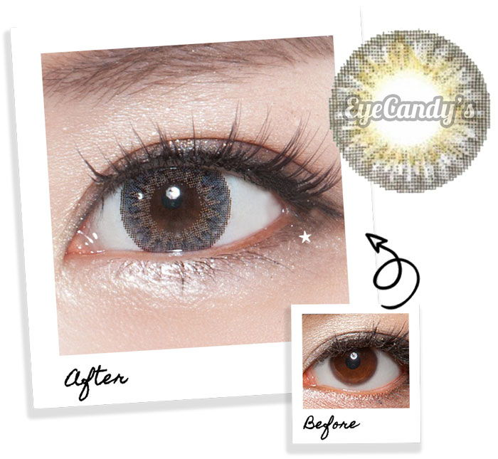 Grey contact lenses for brown eyes