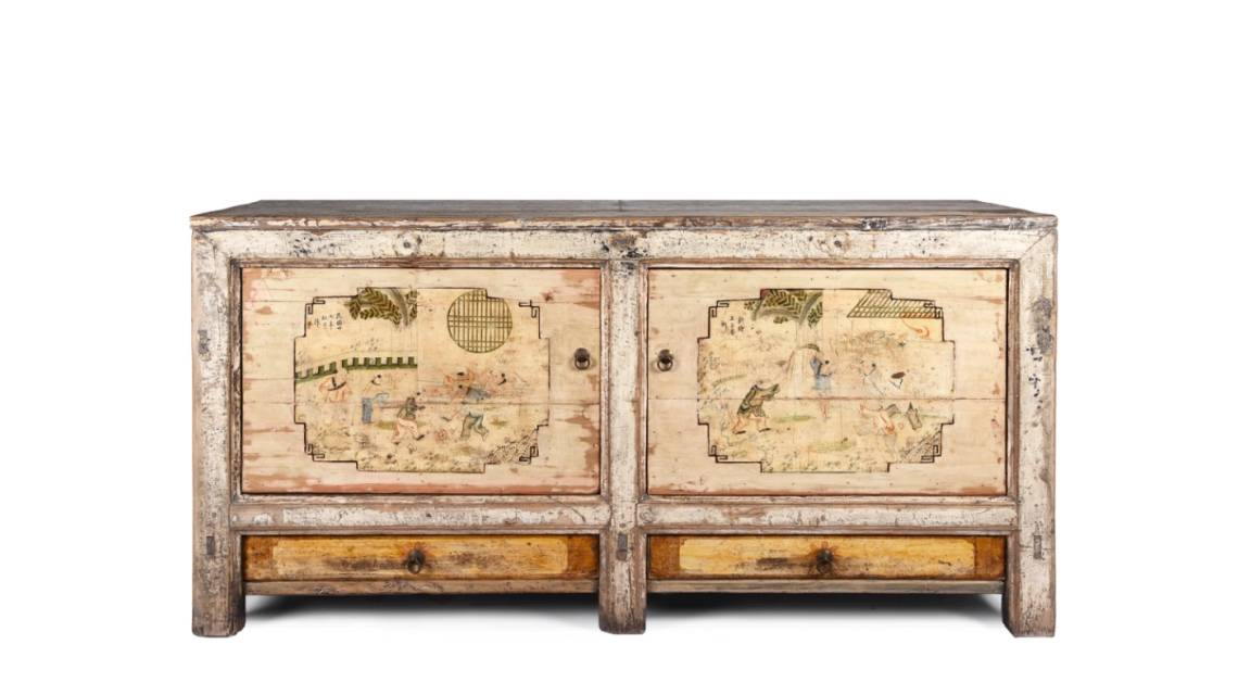 Antique Painted Mongolian Sideboards & Furniture From Mongolia | Indigo Antiques