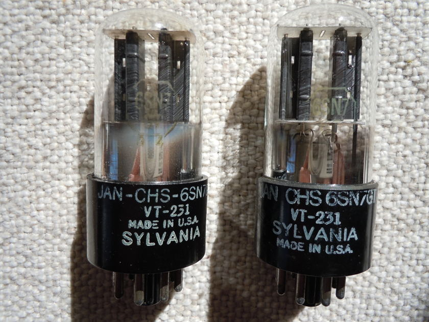 Sylvania 6SN7 JAN-CHS-6SN7GT VT-231