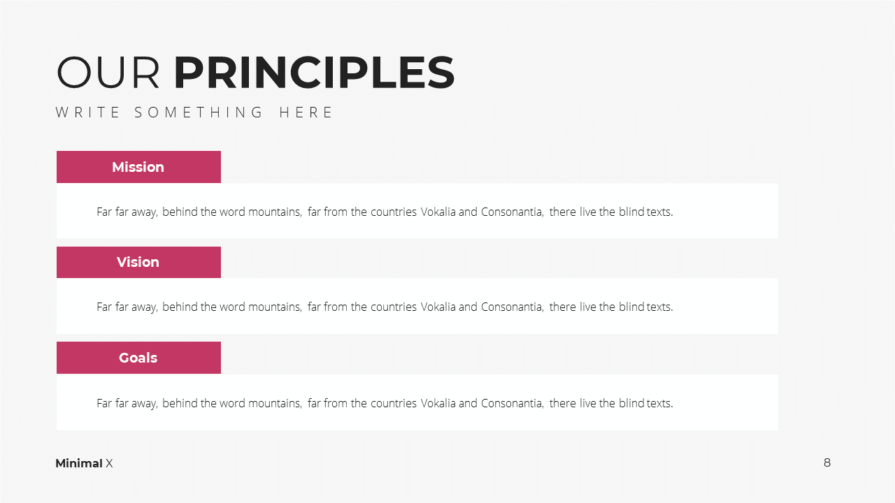 Minimal X Digital Marketing Proposal Presentation Template Principles