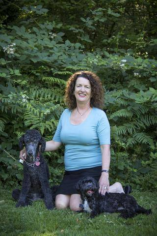 An image of Katie and her dog Rosie, a senior dog who had stopped eating dog food.