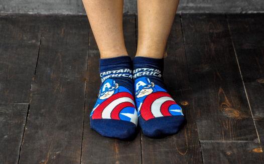 Подарочный набор носков Капитан Америка 3 + открытка