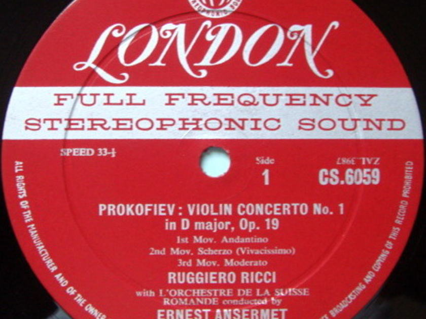 ★1st Press★ LONDON-DECCA FFSS-WB-BB / RUGGIERO RICCI, - Prokofiev Violin Concertos No.1 & 2, NM!