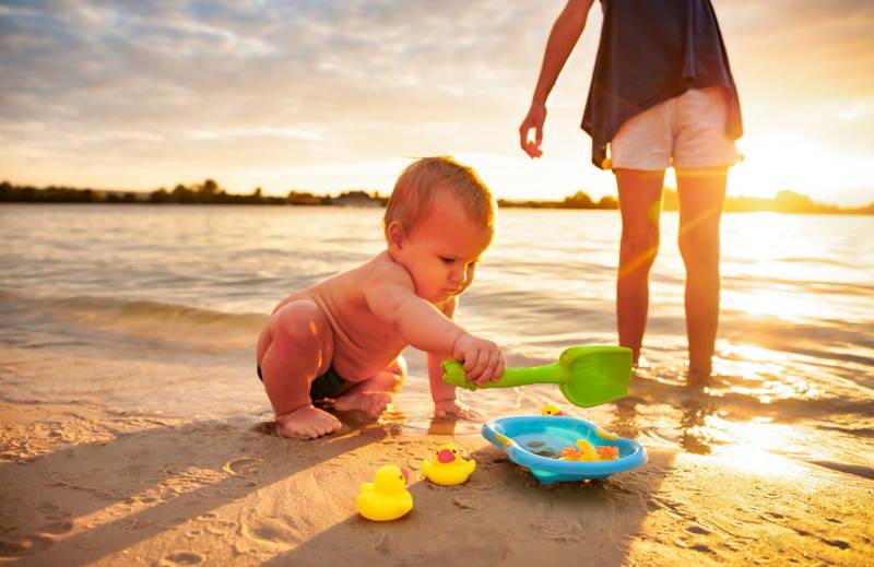 Játék a strandon