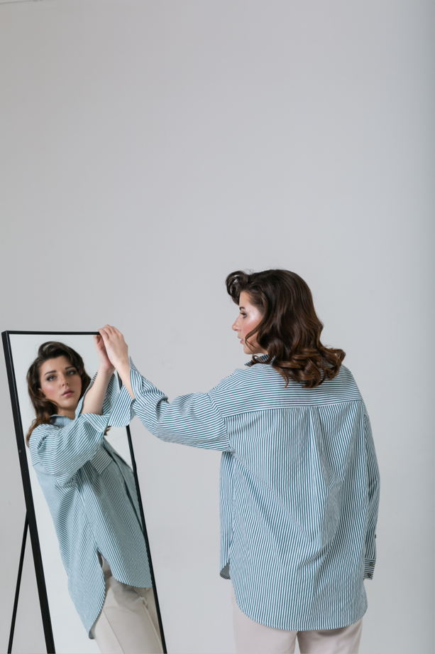 Рубашка оверсайз арт. 1191006
