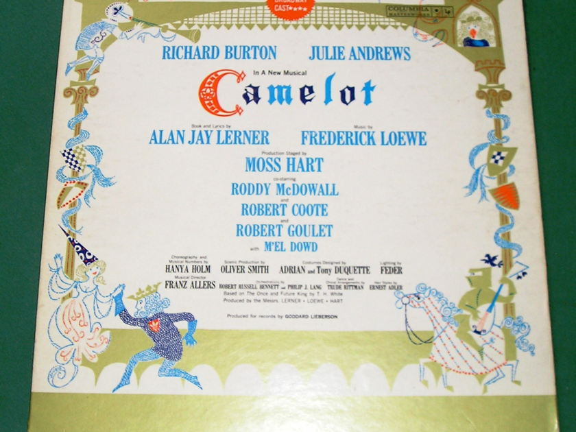 CAMELOT - ORIGINAL BROADWAY CAST - * 1962 COLUMBIA MONO 2-EYE *  Masterworks 3b Label - NM 9/10