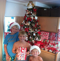 A child's Christmas in St. Martin.
