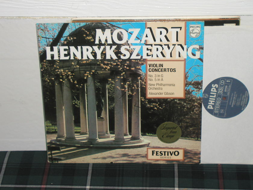 Gibson/Szerying/NPO - Mozart Violin Ctos Philips Import pressing 6570