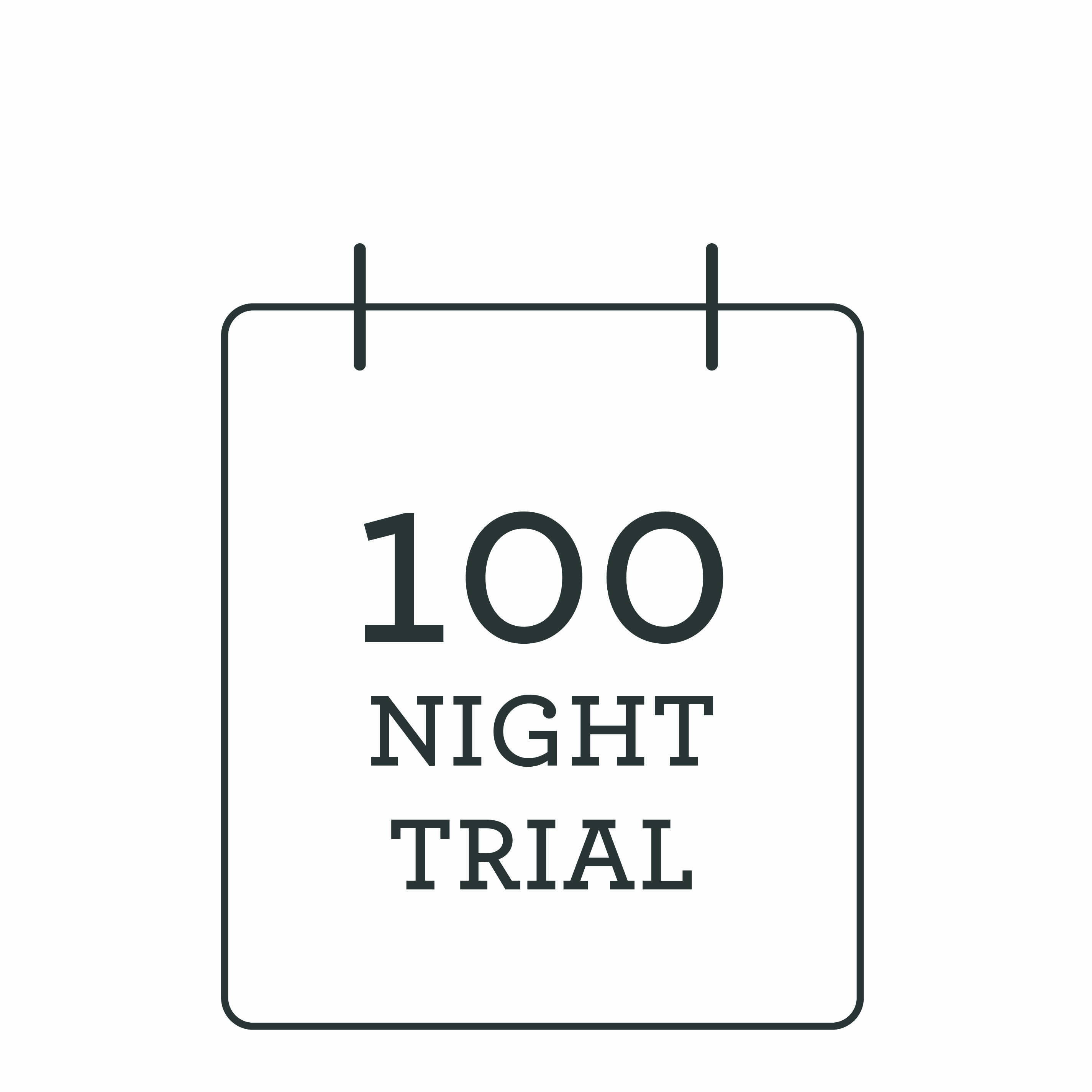 100 night free trial icon. Illustration