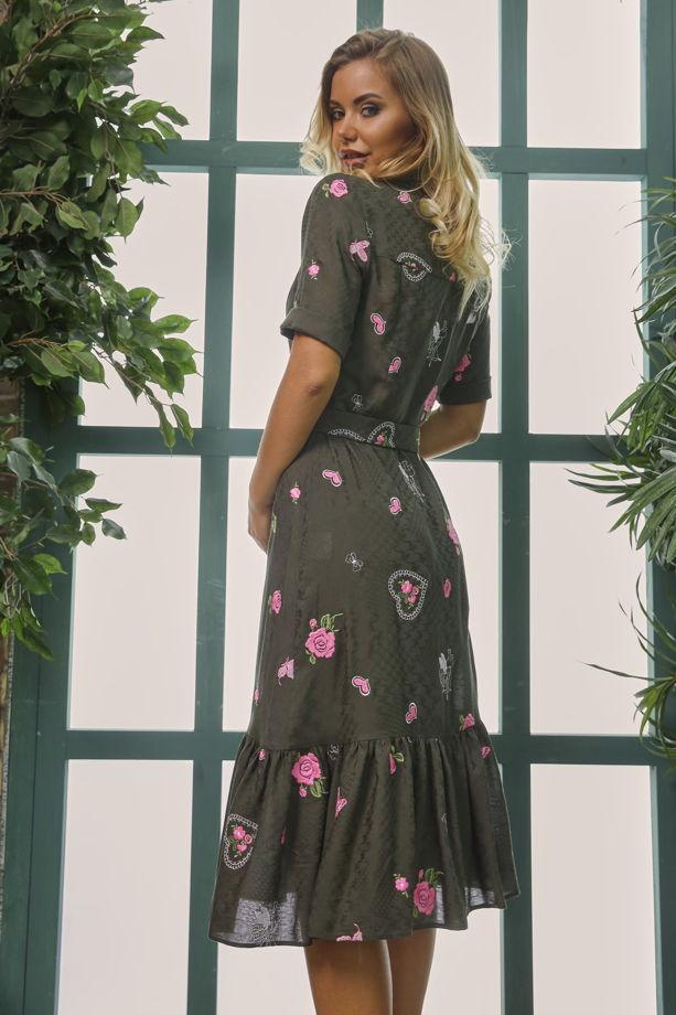 Платье-рубашка MurMur с вышивкой и коротким рукавом