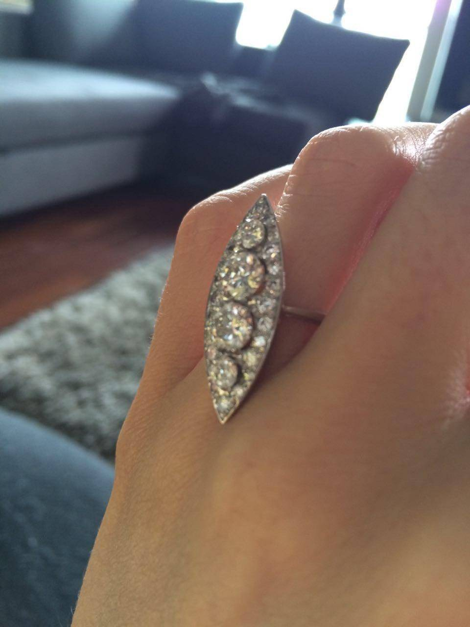 Joanna`s vintage engagement ring