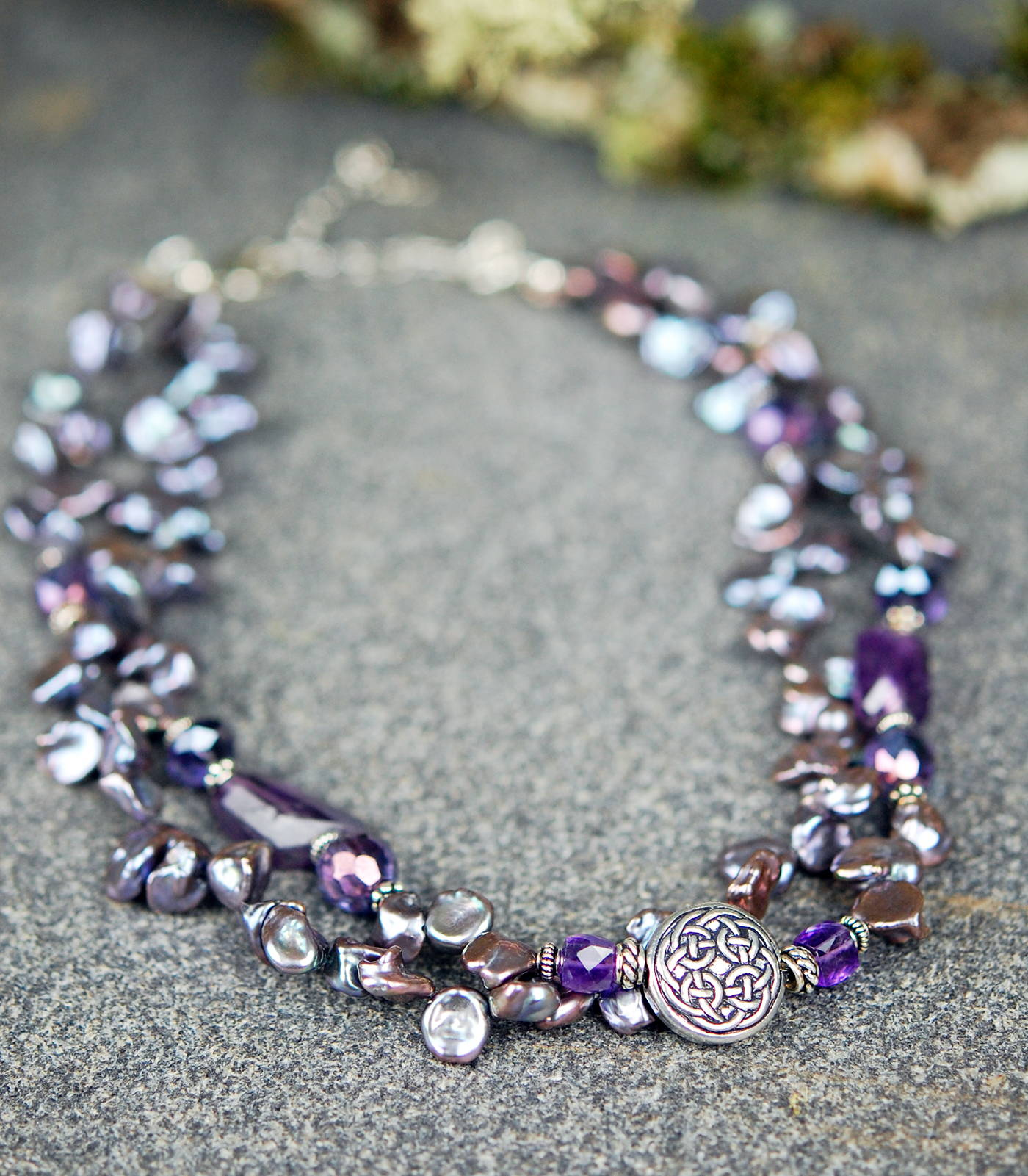 The Celtic Jewelry Studio Celtic Festival OnlineLavender Freshwater Pearls with Amethyst Gemstones