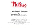 Phillies Hall of Fame Club Tickets