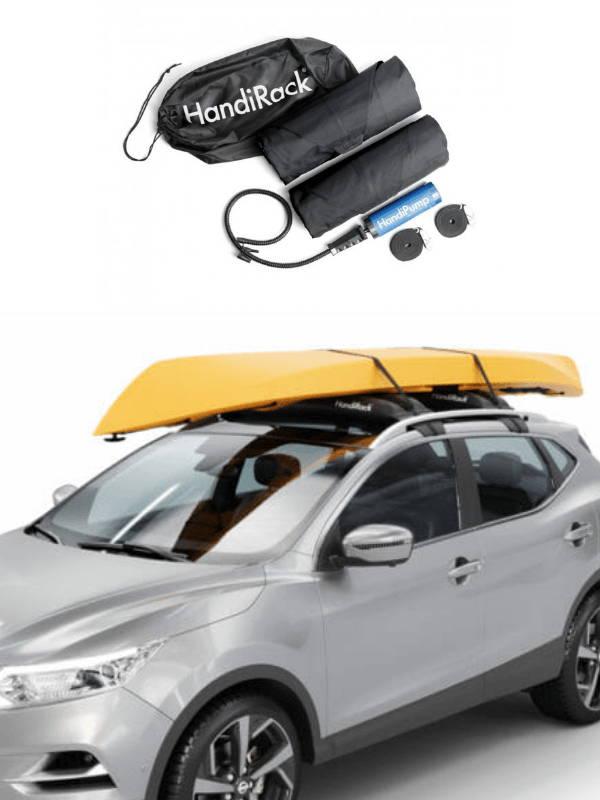 HandiRack med kajak og handirack indhold