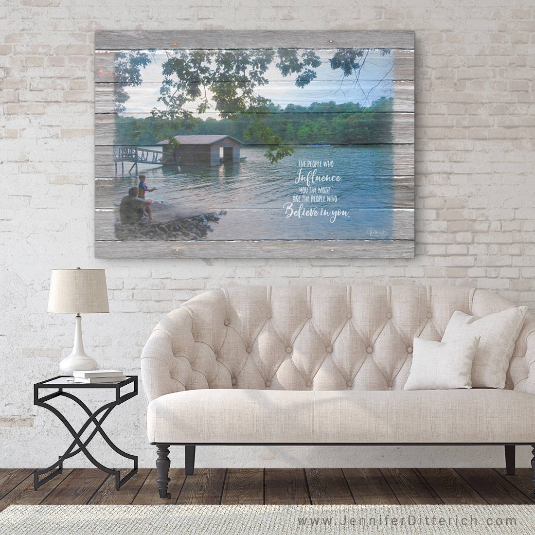 Custom Lake Canvas Print