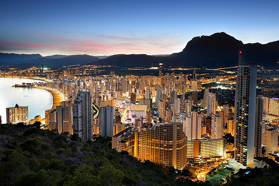 Benidorm, Costa Blanca - benidorm at sunset.jpg