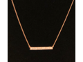 RESPLENDENT ROSE GOLD BAR NECKLACE
