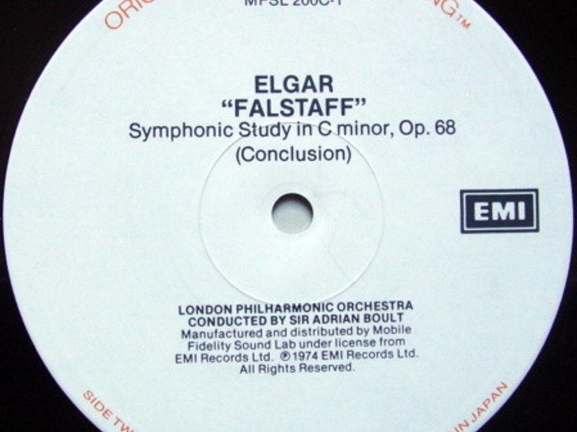 ★Audiophile★ MFSL / BOULT, - Elgar Falstaff-Symphonic Study, MINT, 2 LP Set!