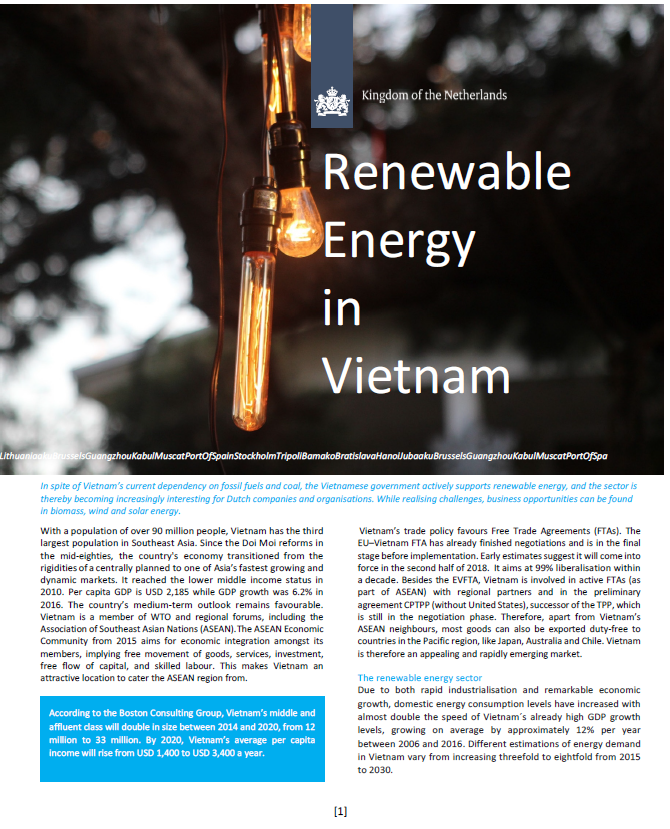 Factsheet Renewable Energy sector in Vietnam