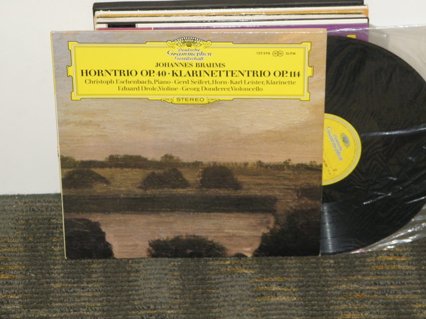 "Eisenbach/Leister/Donderer - Brahms ""Trio For Piano,Clarinet,Cello"" DG 139 398 German Pressing"