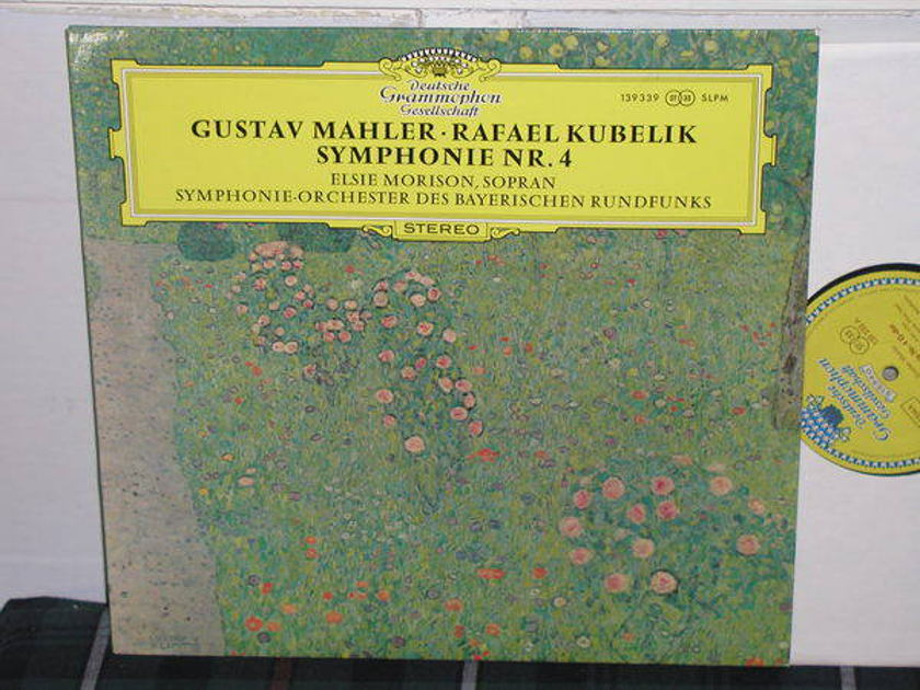 Kubelik/SOdBR - Mahler No.4 DGG German import Tulip label