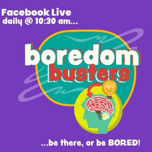 Picture of A mix of stories, activities, and experiments to bust your kiddo's boredom! Be there, or be BORED!