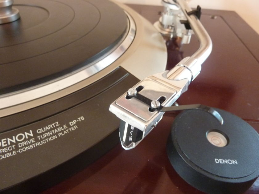 Denon DP75 Direct Drive awesome giant killer turntable