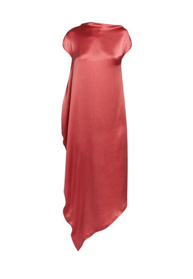 Асимметричное шелковое платье