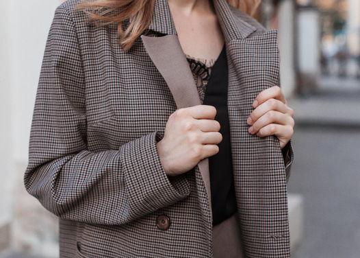 Пиджак с контрастным лацканом