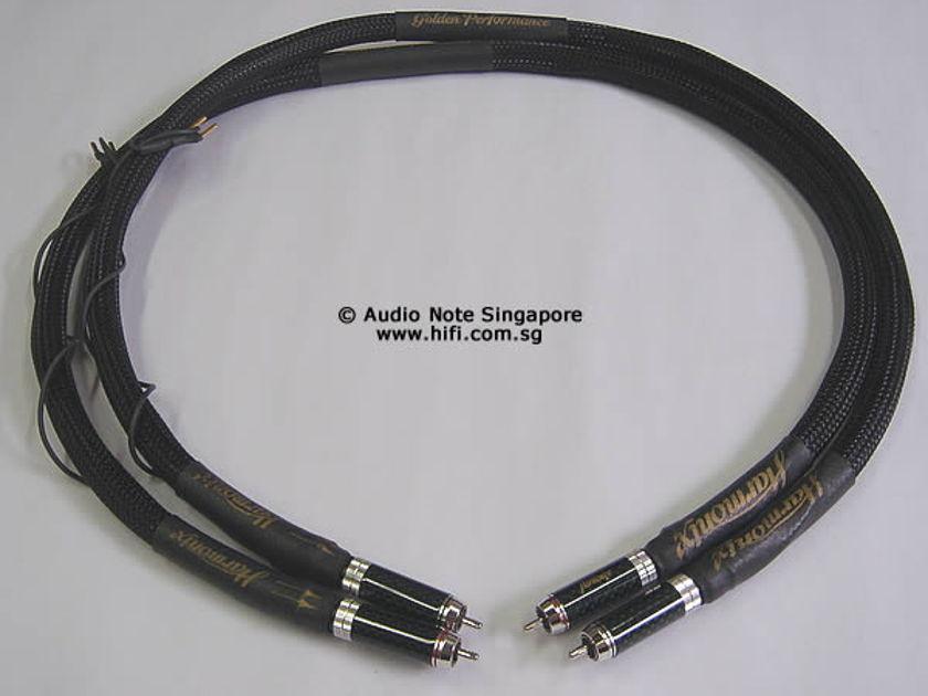 Harmonix HS-101  Golden Performance  RCA Interconnect 1 meter