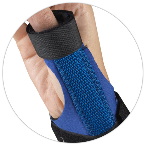 CLOSE UP ON THUMB SUPPORT